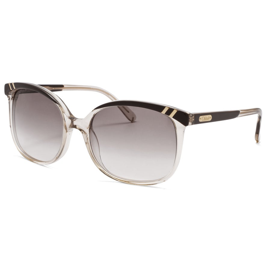 Chloe Women's 'Belladone' Light Brown Transparent Fashion Sunglasses