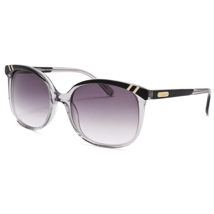 Chloe Women's 'Belladone' Grey Transparent Fashion Sunglasses