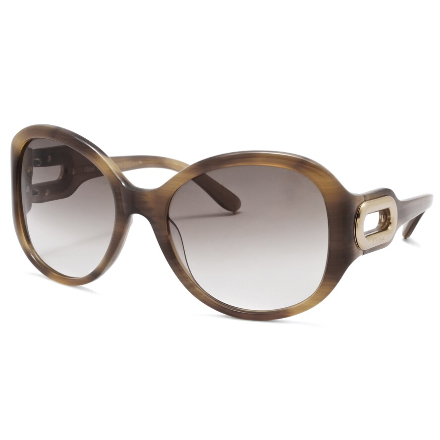 Chloe Women's 'Paraty' Light Brown Horn Fashion Sunglasses