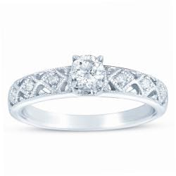 10k White Gold 3/8ct TDW Diamond Engagement Ring (H-I, I1-I2)