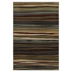 Rigby Brown Striped Rug (5'3 x 7'10)