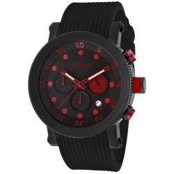 Red Line Men's 'Compressor' Black Silicon Watch