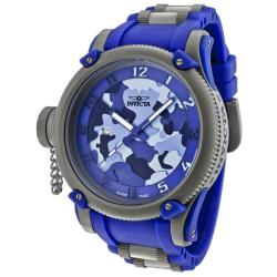 Invicta Men's 'Tsunami Warrior' Blue Rubber Watch