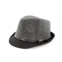 Faddism Black/ Grey Fedora Hat