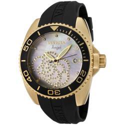 Invicta Women's 'Angel' Black Rubber Watch