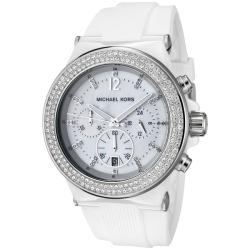 Michael Kors Women's White Silicon Watch