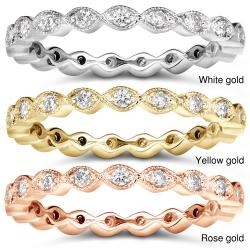 14k Gold 1/3ct TDW Stackable Diamond Eternity Ring