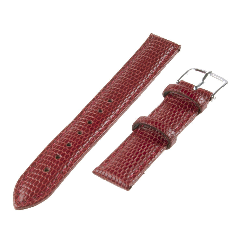 Republic Women's Red Lizard Grain Leather Watch Band