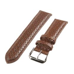 Republic Men's Tan Embossed Basketweave Leather Watch Strap