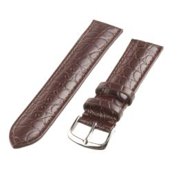 Republic Men's Brown Alligator-embossed Grain Leather Watch Strap