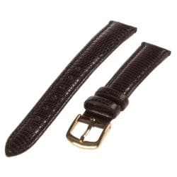 Republic Women's Brown Lizard Grain Leather Watch Strap