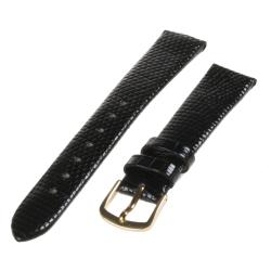 Republic Women's Genuine Java Lizard Black Leather Watch Band