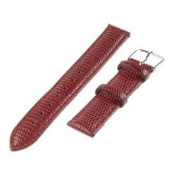Republic Women's Red Lizard Grain Leather Watch Band