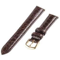 Republic Women's Brown Crocodile Embossed Grain Leather Watch Strap