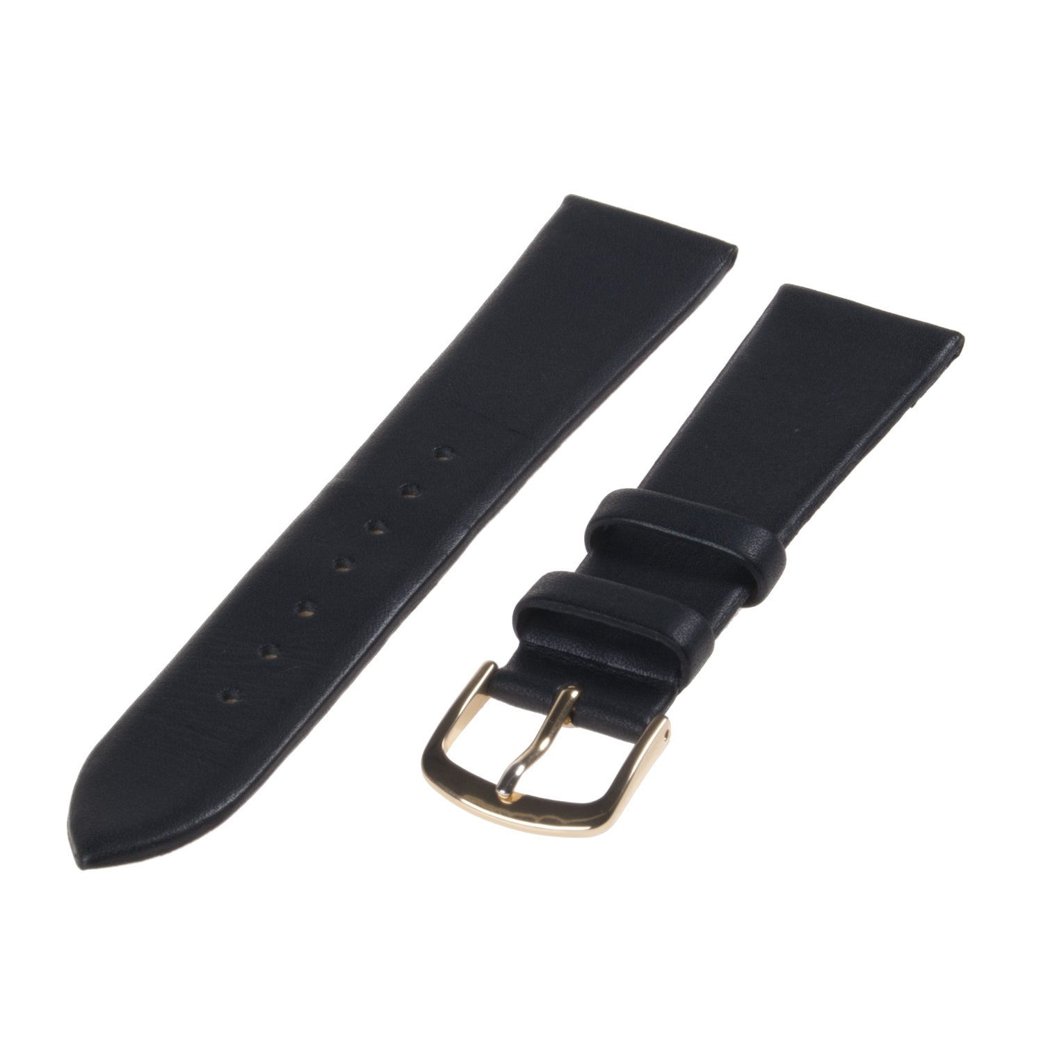 Republic Men's Black Smooth Leather Watch Strap