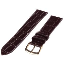 Republic Men's Brown Alligator Grain Leather Watch Band