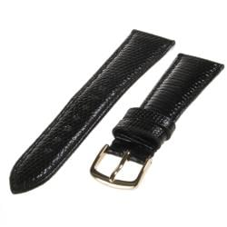 Republic Men's Black Genuine Java Lizard Watch Strap