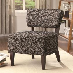 Uno Dark Sunburst Armless Accent Chair