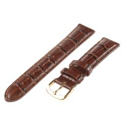 Republic Men's Italian Brown Calfskin Alligator Embossed Hypo-allergenic Watch Strap