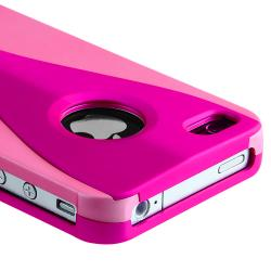 Hot Pink/ Pink Cup Shape Snap-on Case for Apple iPhone 4/ 4S