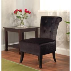 Anna Black Velvet Accent Chair