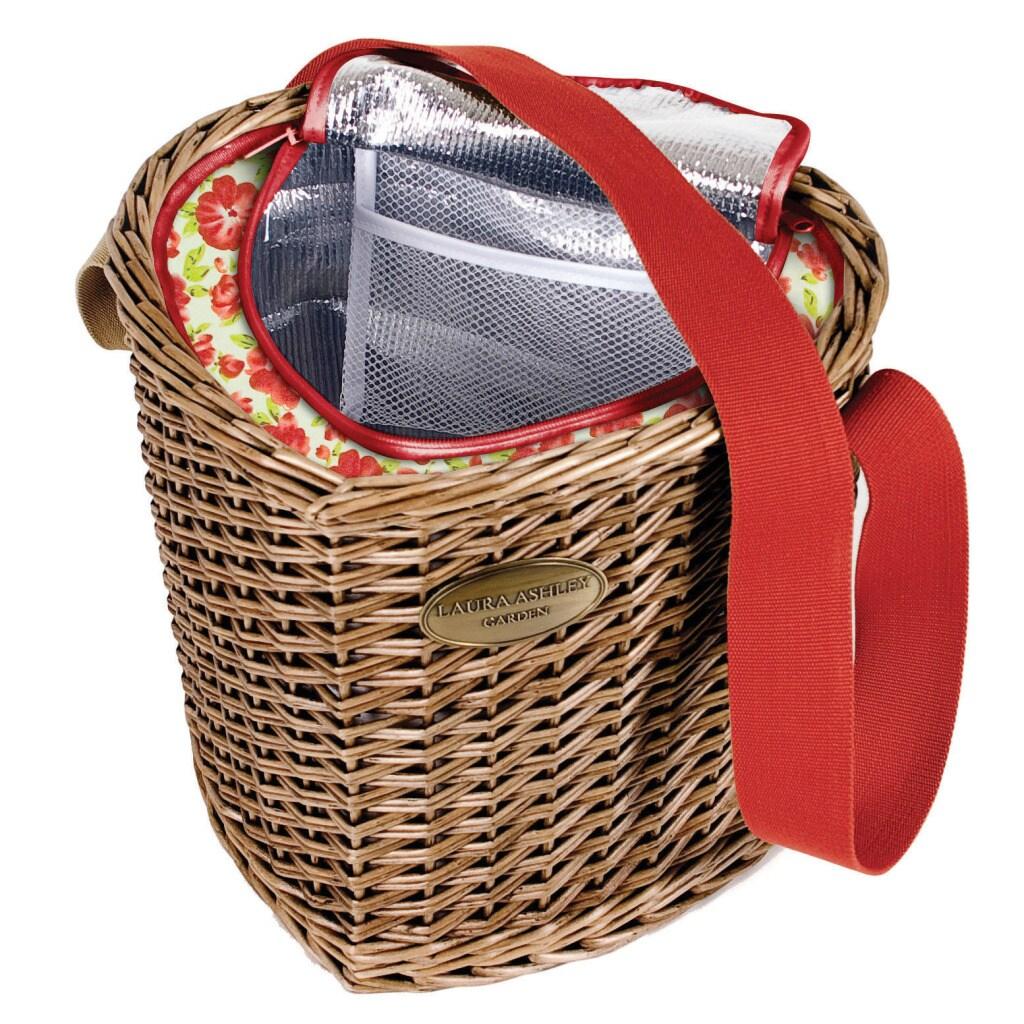 Laura Ashley Heart Shaped Wicker Cooler Basket