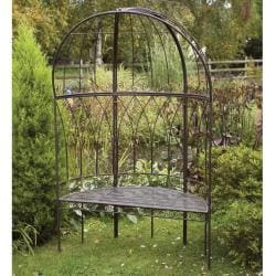 Laura Ashley Chestnut Canopied Metal Garden Bench