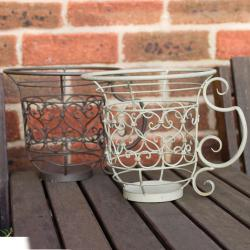 Laura Ashley Oyster Decorative Plant Urn Garden Accent