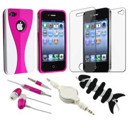 BasAcc Pink Case/ Protector/ Headset/ Wrap/ Cable for Apple iPhone 4S