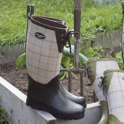 Laura Ashley Women's Black Rubber Wellington Boots
