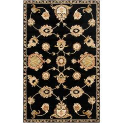 Hand-tufted Black Tabaci Wool Rug (9' x 13')
