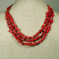 Designs Layered Red Coral Necklace (China)