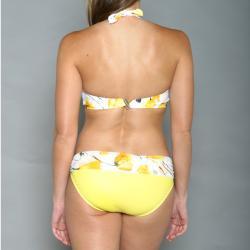 Jantzen Women's Yellow Floral Halter Bikini