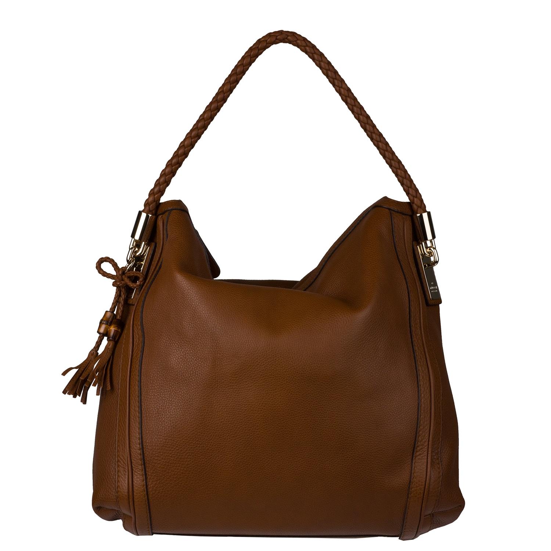 Gucci Bella Brown Large Leather Hobo Bag