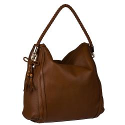Gucci Bella Brown Large Leather Hobo Bag