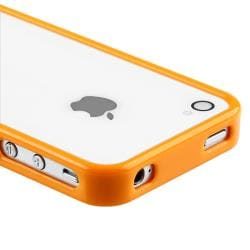 Orange Shiny Bumper TPU Rubber Skin Case for Apple iPhone 4/ 4S