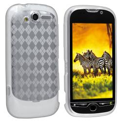 Clear Argyle TPU Rubber Skin Case for HTC T-Mobile myTouch 4G