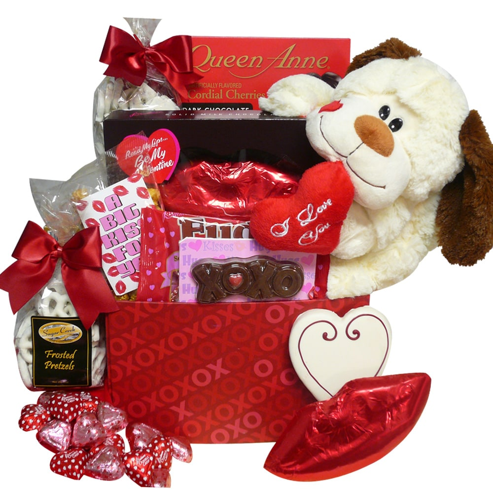 "Gift Baskets: ""A Big Kiss For You!"" Valentines Day Chocolate and Candy Gift Box"