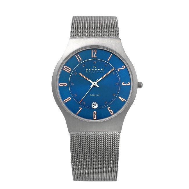 Skagen Men's Titanium Blue Dial Watch