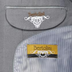 Men's Grey Sharkskin Wool/Silk Blend 3-button Suit