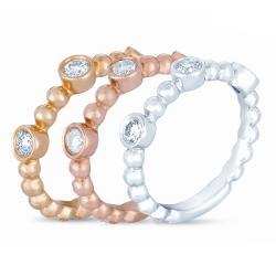 14k Gold 7/8ct TDW Diamond Stackable Ring Set (H-I, I1-I2)