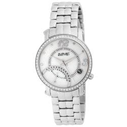 August Steiner Women's Classic Dual Time Stainless Steel Watch