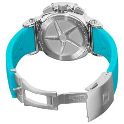 Tissot Women's 'T race' Blue Silicone Strap Chronograph Watch
