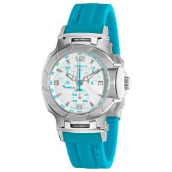 Tissot Women's T048.217.17.017.02 'T race' Blue Silicone Strap Chronograph Watch