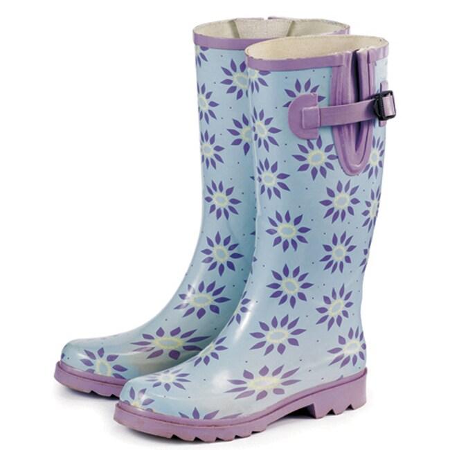 Laura Ashley Women's Elegance Pale Lavender Rubber Wellington Boots