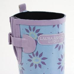 Laura Ashley Women's Elegance Pale Lavender Rubber Wellington Boots