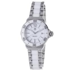 Tag Heuer Women's 'Formula 1' Stainless Steel White Ceramic Watch