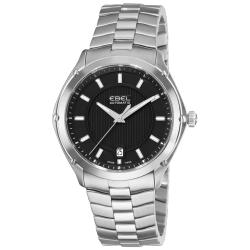 Ebel Men's 'Classic Sport' Black Dial Stainless Steel Watch