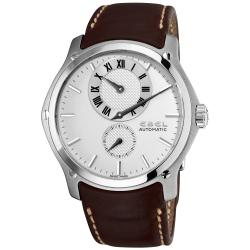 Ebel Men's 'Classic Hexagon' Brown Leather Strap Automatic Watch