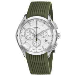 Ebel Men's 'Classic Sport' Green Rubber Strap Chronograph Watch